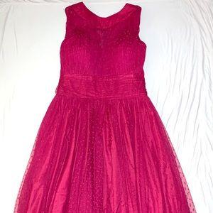 Unique Vintage Garden State Tulle Halter Dress